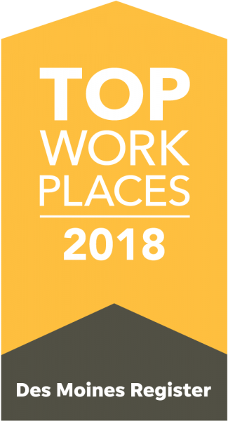 2018 Des Moines Register Top Workplace